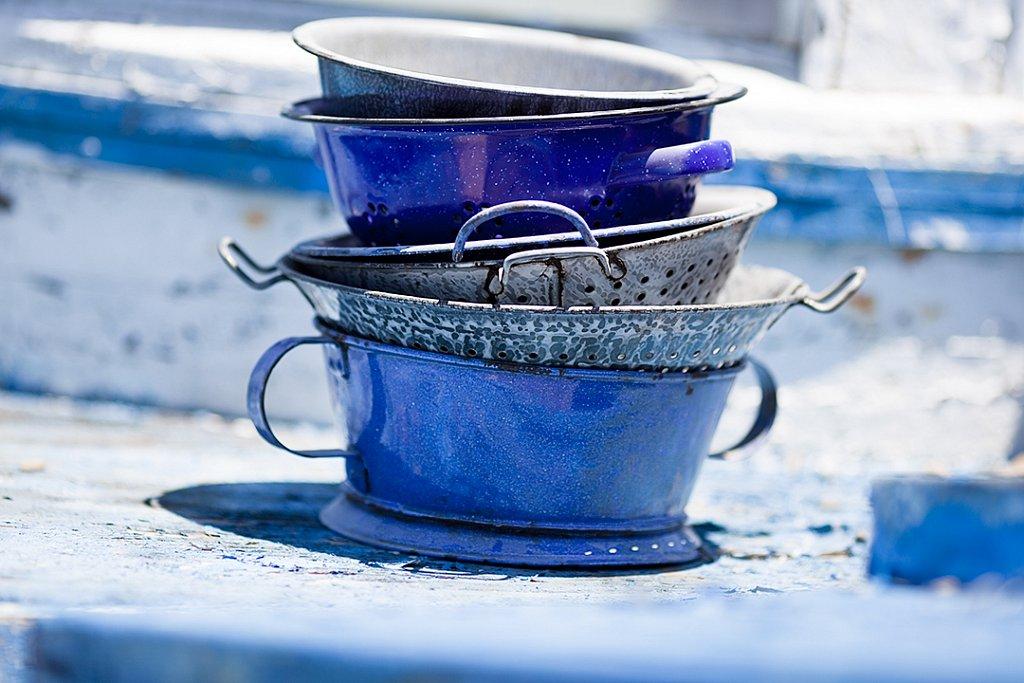 Blue Pans